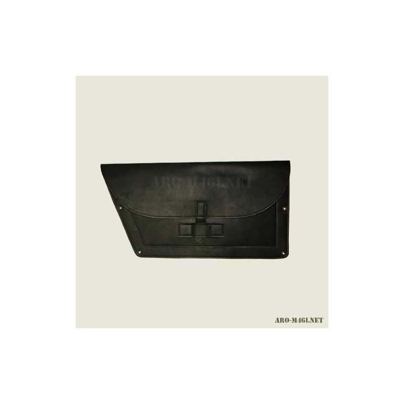 Poket door Black leather (reproduction) RO