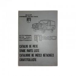 Catalogue pièces détachées Aro 240